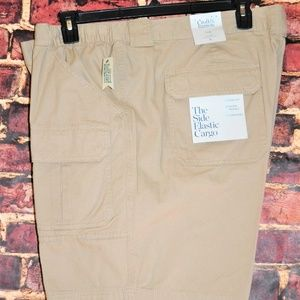 MEN`S CROFT & BARROW FLEX WAIST CARGO SHORTS